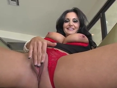 Cute brunette whore Ava Addams is playing with her cock