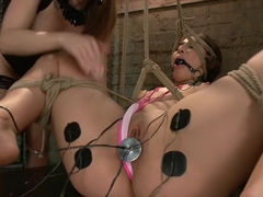 Hot Slut Gets Electrofucked for Her 19th Birthday!