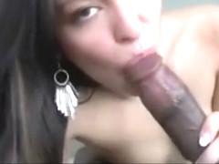Beautiful Latina Gets An Oral Creampie From Her Man