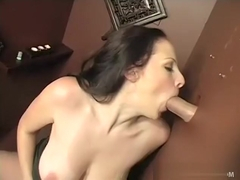 Gianna Michaels shows off her big tits when she finds the holy glory hole