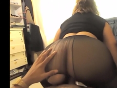 Mature With Big Ass Fuck In Pantyhose By A Boy