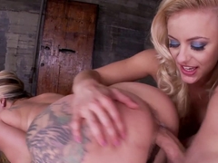 Horny pornstars Joclyn Stone, Cameron Canada in Incredible Tattoos, Threesomes porn scene