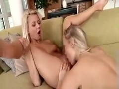 Hot Lesbian Couple Making Out