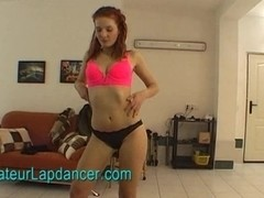 Fresh girl redhead does gorgeous lapdance