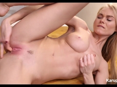 Cute Blonde Fingering Her Pussy