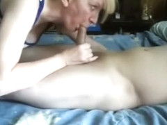 Amazing private brunette, blowjob, bedroom porn movie