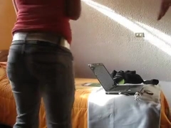 Mad twerk web camera dance movie scene