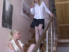 LickNylons Clip: Hilda and Paulina A