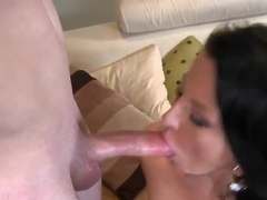 Skinny girl Casey pleasing her man Romeo Price