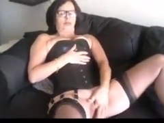 Dutch Mature in black Lingerie