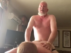 Daddy bear rimming and breeding a ginger cub