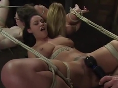 Seductive Charlee Chase performing in BDSM action