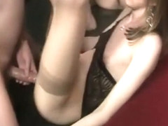 Best homemade shemale movie with Stockings, Group Sex scenes