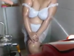 indian hot aunty webcam teasing in bathroom