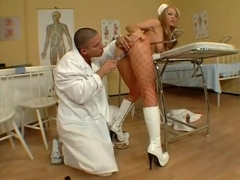 Sexy nurse Julia Taylor holed