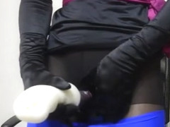 pantyhose encasement mastrubation