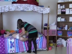 Jessy spanked diapered