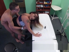 Natural Monster Tits Patient Bangs Doctor