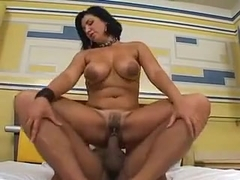 Buxom Milf Kathya Nibbles On His Knob And Gets On To Ride It