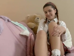 X356 Sweet Schoolgirl Lara Toying Hot Ass