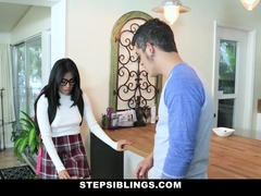 StepSiblings - Nerdy Teen Rides Stepbros Cock