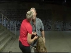 Old man fucks teen girl in front of his wife