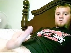 Sexy fag is playing in the bedroom and filming himself on webcam