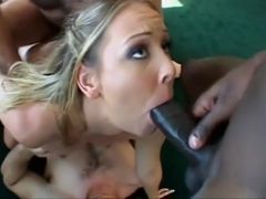 Gangbang initiation for blonde Julie