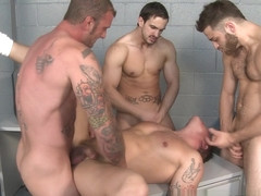 Parker London & Phenix Saint & Ricky Sinz & Tommy Defendi in Behind Bars 3 Video