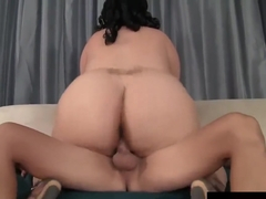 BBW lady Juicy Jazmynne gets doggystyled