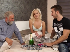 DADDY4K. Naughty dad dragged son's girl into unexpected morning sex
