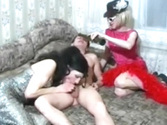 Exotic Amateur Shemale record with Blonde, Threesome scenes