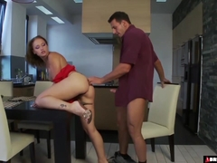 Caty Campbell Brutally Fucked On The Table