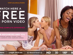 Adrian Dimas  Gina Gerson  Jasmine Webb  Kiara Lord in Your neighbors and you - VirtualRealPorn
