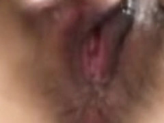 Japanese edging herself with ruined orgasm