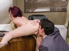 Office Slut Monique Alexander Gets Worshipped By Boss