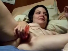 gf and I having some sex enjoyment that babe blows me during the time that I use a fake penis on h.