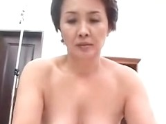 Japanese Granny Toys Sucks and Copulates (Uncensored)