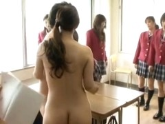 Pretty Japanese schoolgirls get some hot sex action