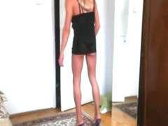 Exotic Homemade Shemale movie with Blonde, Lingerie scenes