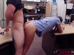 Nurse puts panty in pussy for extra cash gets hot sex in the owners office