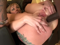 Adrianna Nicole and her tattooed ass get drilled by a black dick