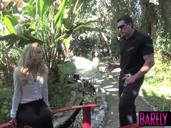 Tiny Alina West moans while hammered by monster cock