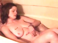 Girl farting in the bath