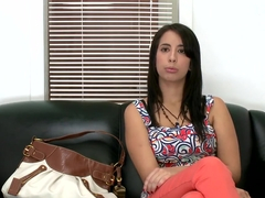 Budding actress Nina Lopez try to prove that she can be a pornstar