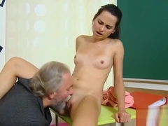Kissable Schoolgirl Is Teased And Poked By Her Older Mentor4
