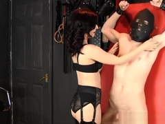 Mistress Lola Wears Lingerie and Tickles Slave