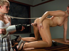 Horny fetish, milf porn clip with fabulous pornstars Aiden Aspen and India Summer from Fuckingmachines