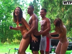 Erotic Veronica in outdoor picnic which turns out to be sex picnic