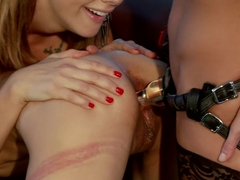 Tia Ling takes Hard Electrosex with Double Penetration!